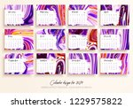 calendar design for 2019. set... | Shutterstock .eps vector #1229575822