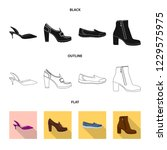 isolated object of footwear and ... | Shutterstock .eps vector #1229575975