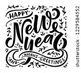 hand sketched happy new year... | Shutterstock .eps vector #1229584552