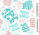 set of christmas quotes pattern ...   Shutterstock .eps vector #1229585875