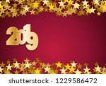 2019 happy new year background. ... | Shutterstock .eps vector #1229586472