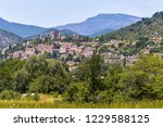 landscape panorama with... | Shutterstock . vector #1229588125