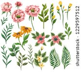 huge collection of floral... | Shutterstock .eps vector #1229597512