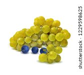 fresh  nutritious  tasty grapes.... | Shutterstock .eps vector #1229598625