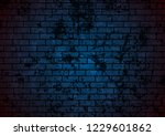 dark blue grunge brick wall... | Shutterstock .eps vector #1229601862