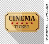 cinema ticket icon in flat... | Shutterstock .eps vector #1229606005