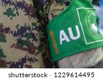 a soldier from the african... | Shutterstock . vector #1229614495
