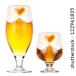 love beer concept isolated on a ... | Shutterstock . vector #122961835
