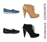 isolated object of footwear and ... | Shutterstock .eps vector #1229623075