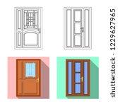 vector design of door and front ...   Shutterstock .eps vector #1229627965