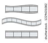 cinema film strip roll 35mm... | Shutterstock .eps vector #1229631082