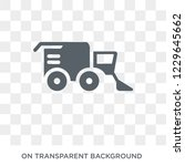 combine harvester icon. combine ... | Shutterstock .eps vector #1229645662