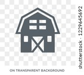 barn icon. barn design concept...   Shutterstock .eps vector #1229645692