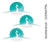 Peacock Label   Vector...