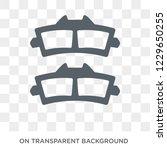 car brake pad icon. car brake... | Shutterstock .eps vector #1229650255