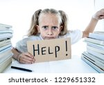 angry little girl with a... | Shutterstock . vector #1229651332
