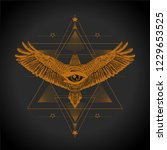 esoteric print t shirt and... | Shutterstock .eps vector #1229653525