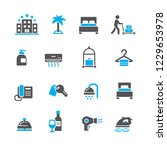 set of hotel icons | Shutterstock .eps vector #1229653978
