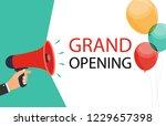 megaphone with speech bubble... | Shutterstock .eps vector #1229657398