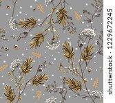 seamless pattern vector of... | Shutterstock .eps vector #1229672245