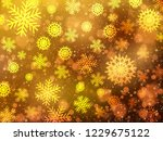 christmas background with... | Shutterstock .eps vector #1229675122