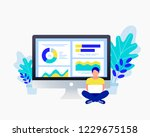 business strategy concept. data ... | Shutterstock .eps vector #1229675158