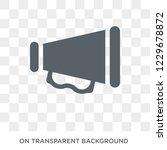 bullhorn icon. bullhorn design... | Shutterstock .eps vector #1229678872