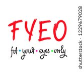 for your eyes only   simple... | Shutterstock .eps vector #1229679028