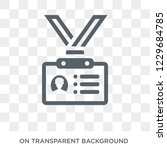 id card icon. trendy flat... | Shutterstock .eps vector #1229684785