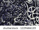 steampunk texture  backgroung... | Shutterstock . vector #1229686135