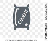 trendy flat vector cement icon... | Shutterstock .eps vector #1229689528