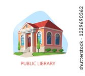 public library or building for... | Shutterstock .eps vector #1229690362
