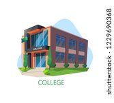 exterior view of modern college ... | Shutterstock .eps vector #1229690368