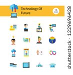 technology of future icon set.... | Shutterstock .eps vector #1229696428