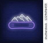 winter resort neon sign.... | Shutterstock .eps vector #1229696455
