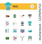 web icon set. internet data...   Shutterstock .eps vector #1229696722