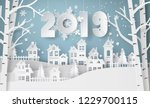 happy new year and winter... | Shutterstock .eps vector #1229700115