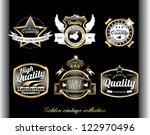 royal design blue labels in... | Shutterstock .eps vector #122970496