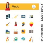 music icon set. trumpet player... | Shutterstock .eps vector #1229710435