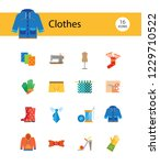 clothes icon set. sweater ... | Shutterstock .eps vector #1229710522