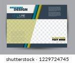 flyer  brochure  billboard... | Shutterstock .eps vector #1229724745