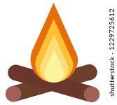 bonfire colored icon. element... | Shutterstock .eps vector #1229725612