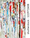 torn advertisement posters  may ... | Shutterstock . vector #122972608