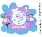social media concept   virtual... | Shutterstock .eps vector #1229737252