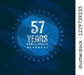 57 years anniversary... | Shutterstock .eps vector #1229739235