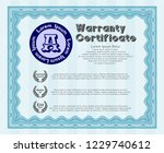 light blue retro vintage... | Shutterstock .eps vector #1229740612