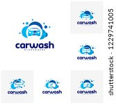 set of car wash logo template...   Shutterstock .eps vector #1229741005
