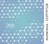abstract dna strand symbol.... | Shutterstock .eps vector #1229747128