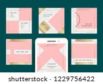 fashion sale web banners for... | Shutterstock .eps vector #1229756422