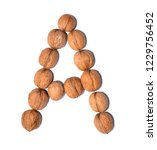 letter a made with nuts to form ... | Shutterstock . vector #1229756452